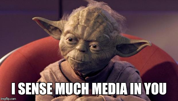 Media leads to bias, bias leads to vote, vote leads to... | I SENSE MUCH MEDIA IN YOU | image tagged in yoda wisdom | made w/ Imgflip meme maker