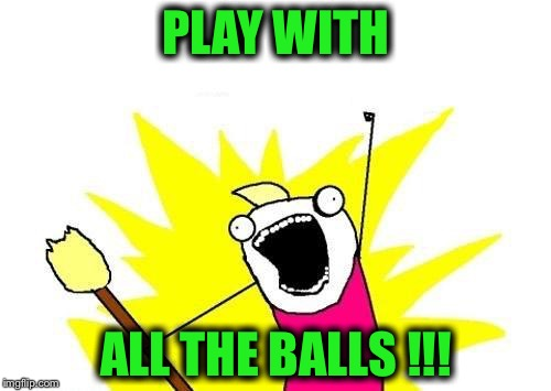 X All The Y Meme | PLAY WITH ALL THE BALLS !!! | image tagged in memes,x all the y | made w/ Imgflip meme maker