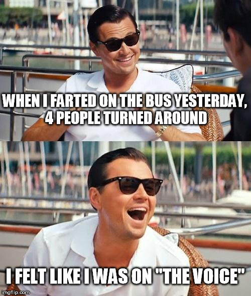 "The Voice | WHEN I FARTED ON THE BUS YESTERDAY, 4 PEOPLE TURNED AROUND I FELT LIKE I WAS ON ""THE VOICE"" 