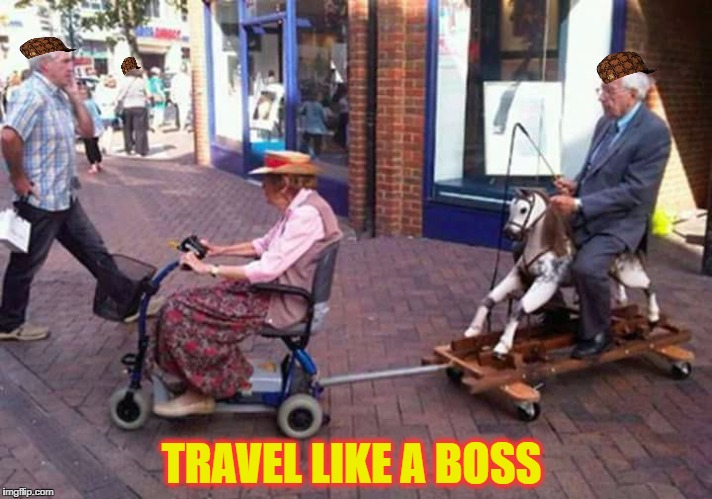 TRAVEL LIKE A BOSS | image tagged in like a boss,scumbag | made w/ Imgflip meme maker