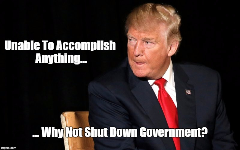 Unable To Accomplish Anything... ... Why Not Shut Down Government? | made w/ Imgflip meme maker