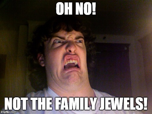 OH NO! NOT THE FAMILY JEWELS! | made w/ Imgflip meme maker