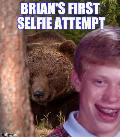 BRIAN'S FIRST SELFIE ATTEMPT | made w/ Imgflip meme maker
