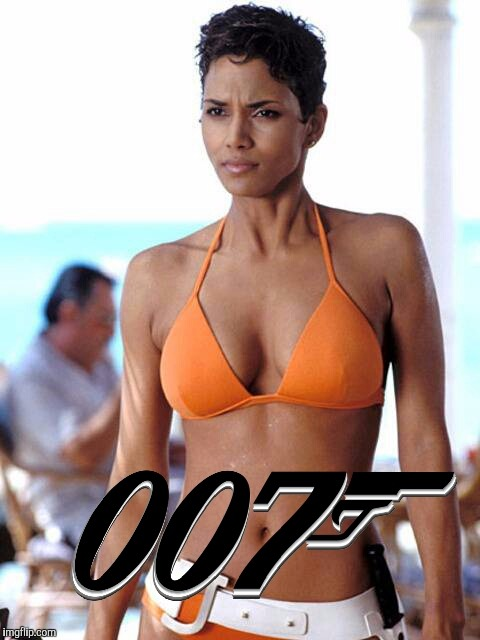 007 | G | image tagged in cleavage week,halle berry | made w/ Imgflip meme maker