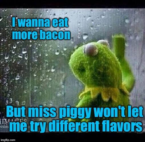 I wanna eat more bacon But miss piggy won't let me try different flavors | made w/ Imgflip meme maker