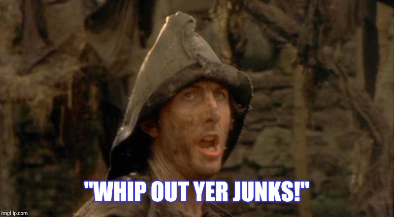 """WHIP OUT YER JUNKS!"" 