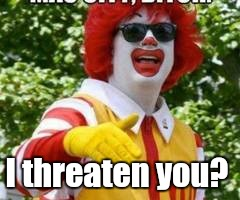 thumb.jpg | I threaten you? | image tagged in thumbjpg | made w/ Imgflip meme maker