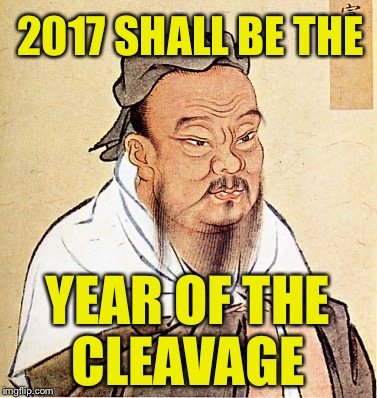 2017 SHALL BE THE YEAR OF THE CLEAVAGE | made w/ Imgflip meme maker
