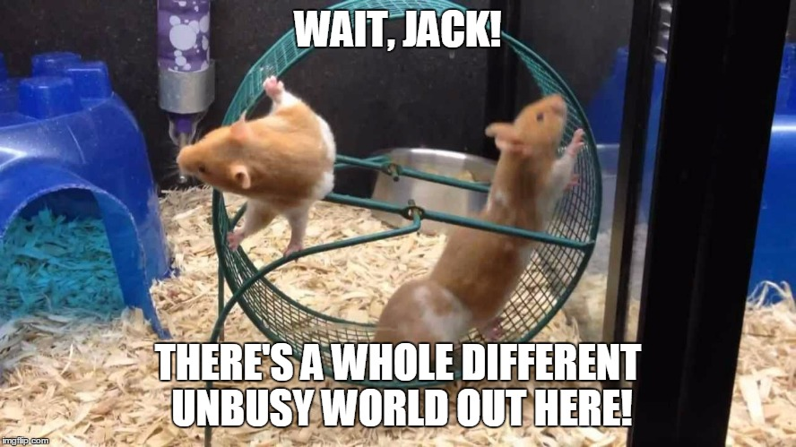 WAIT, JACK! THERE'S A WHOLE DIFFERENT UNBUSY WORLD OUT HERE! | made w/ Imgflip meme maker
