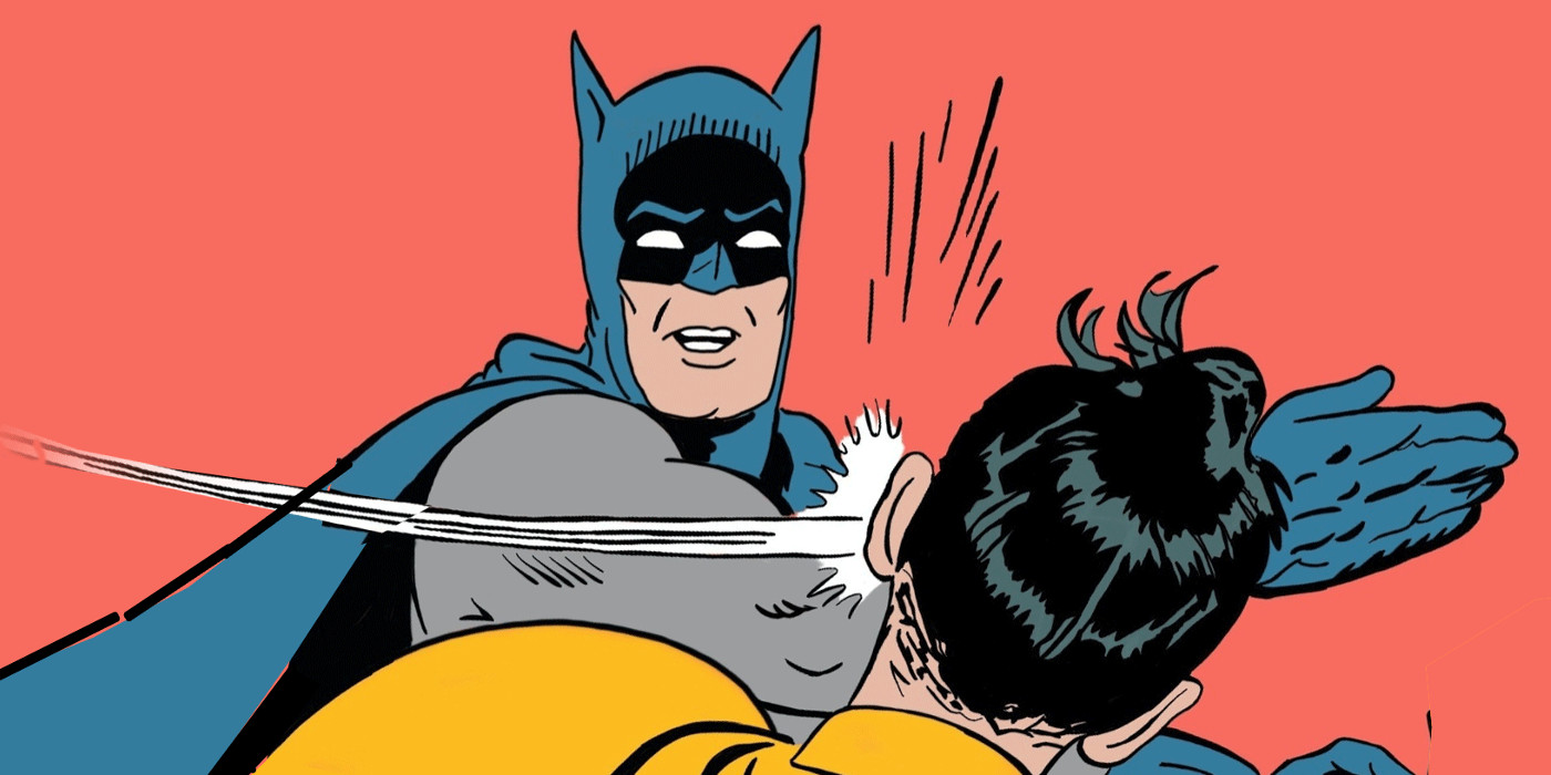 High Quality batman slap Blank Meme Template