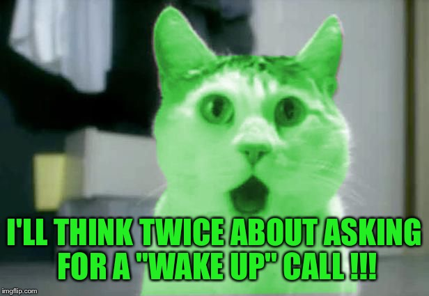 "OMG RayCat | I'LL THINK TWICE ABOUT ASKING FOR A ""WAKE UP"" CALL !!! 