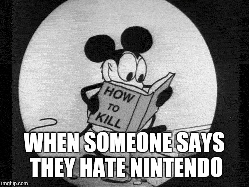 Seriously.. | WHEN SOMEONE SAYS THEY HATE NINTENDO | image tagged in nintendo | made w/ Imgflip meme maker