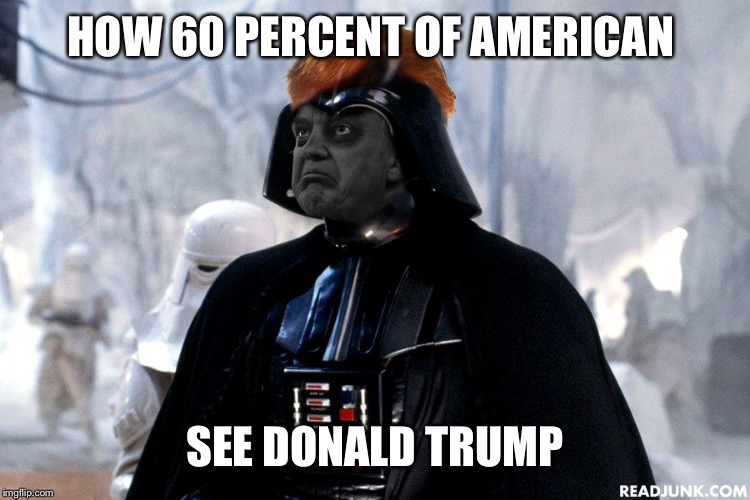 HOW 60 PERCENT OF AMERICAN SEE DONALD TRUMP | made w/ Imgflip meme maker