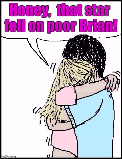 Honey,  that star fell on poor Brian! | made w/ Imgflip meme maker