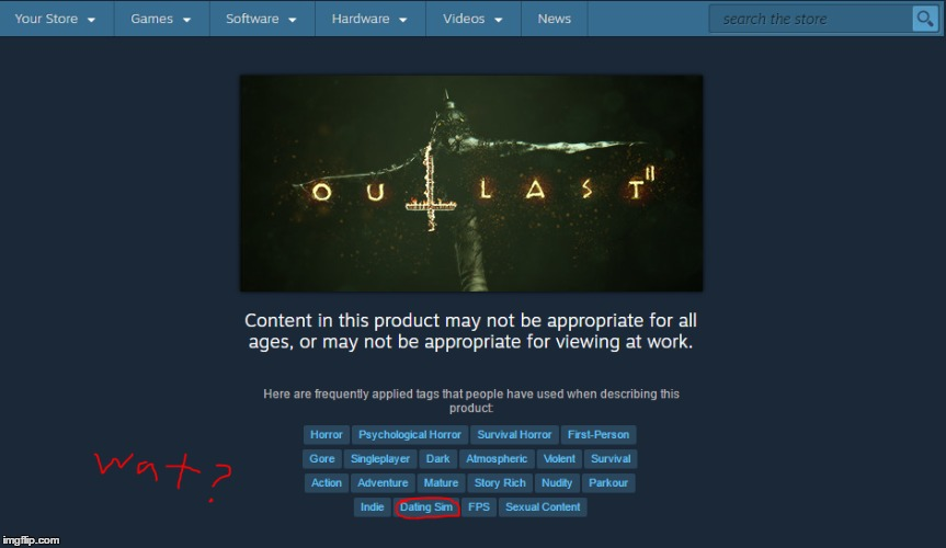 image tagged in outlast,video games,products | made w/ Imgflip meme maker