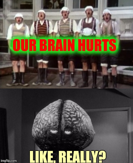 OUR BRAIN HURTS LIKE, REALLY? | made w/ Imgflip meme maker
