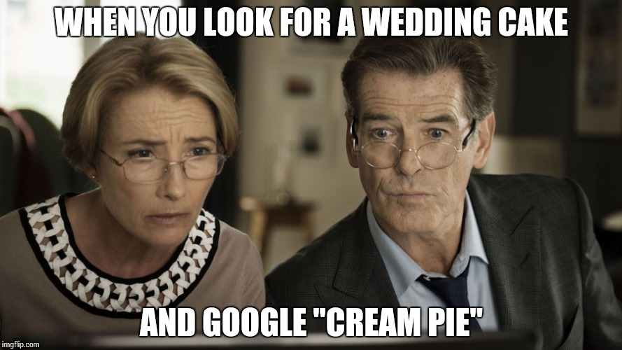 "Online Shopping | WHEN YOU LOOK FOR A WEDDING CAKE AND GOOGLE ""CREAM PIE"" 