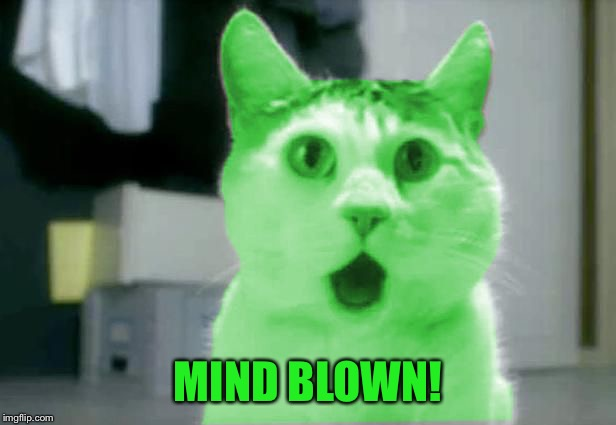 OMG RayCat | MIND BLOWN! | image tagged in omg raycat | made w/ Imgflip meme maker