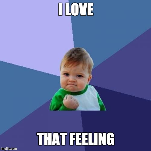 Success Kid Meme | I LOVE THAT FEELING | image tagged in memes,success kid | made w/ Imgflip meme maker
