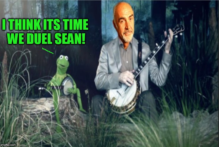 Kermit VS Sean Banjo War | I THINK ITS TIME WE DUEL SEAN! | image tagged in kermit vs sean banjo war | made w/ Imgflip meme maker