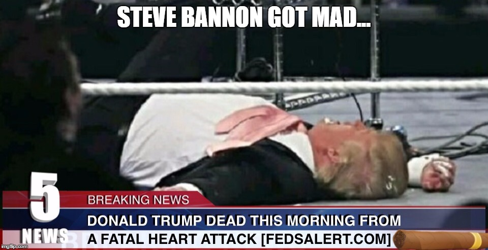STEVE BANNON GOT MAD... | made w/ Imgflip meme maker