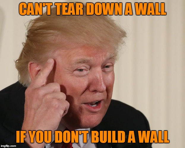 CAN'T TEAR DOWN A WALL IF YOU DON'T BUILD A WALL | made w/ Imgflip meme maker