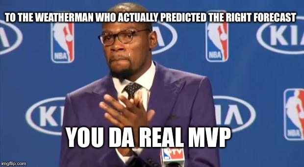 You The Real MVP Meme | TO THE WEATHERMAN WHO ACTUALLY PREDICTED THE RIGHT FORECAST YOU DA REAL MVP | image tagged in memes,you the real mvp | made w/ Imgflip meme maker