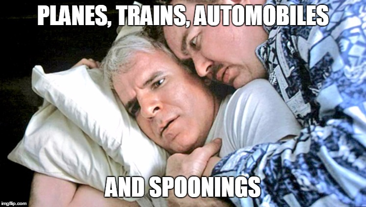 PLANES, TRAINS, AUTOMOBILES AND SPOONINGS | image tagged in planes trains automobile spoons | made w/ Imgflip meme maker