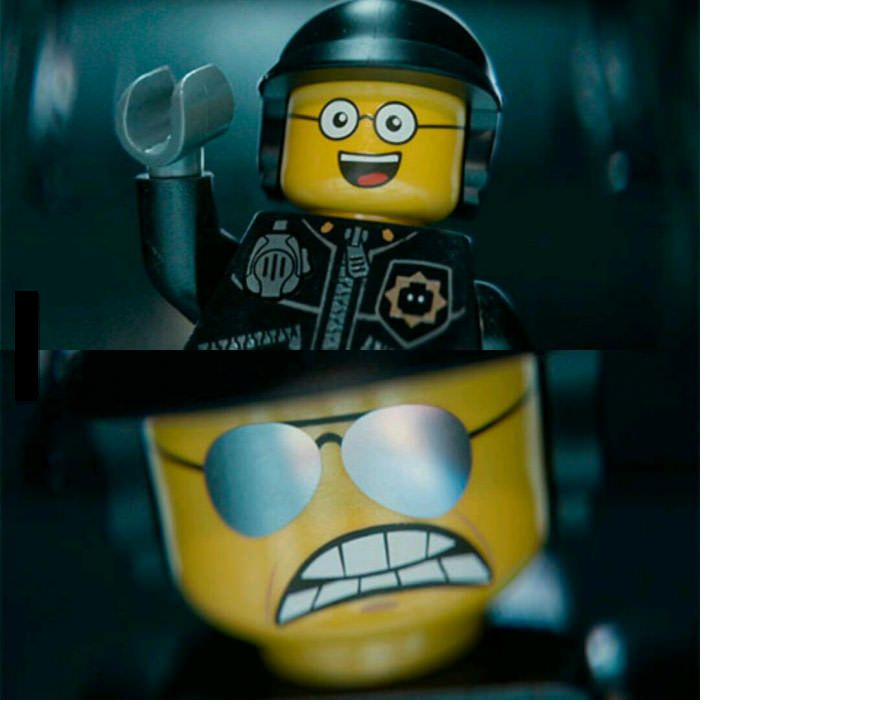 High Quality Lego Good Cop Bad Cop Blank Meme Template
