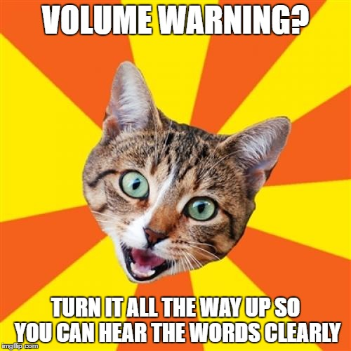 Bad Advice Cat | VOLUME WARNING? TURN IT ALL THE WAY UP SO YOU CAN HEAR THE WORDS CLEARLY | image tagged in memes,bad advice cat | made w/ Imgflip meme maker