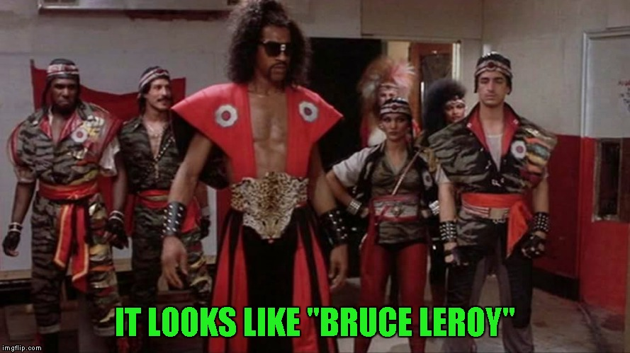"IT LOOKS LIKE ""BRUCE LEROY"" 