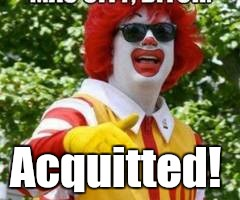 thumb.jpg | Acquitted! | image tagged in thumbjpg | made w/ Imgflip meme maker