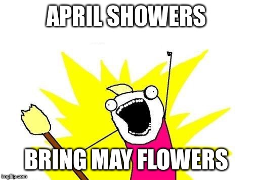 X All The Y Meme | APRIL SHOWERS BRING MAY FLOWERS | image tagged in memes,x all the y | made w/ Imgflip meme maker