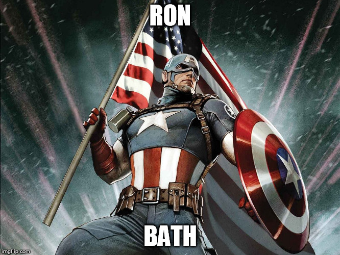 Captain America Flag Shield | RON BATH | image tagged in captain america flag shield | made w/ Imgflip meme maker