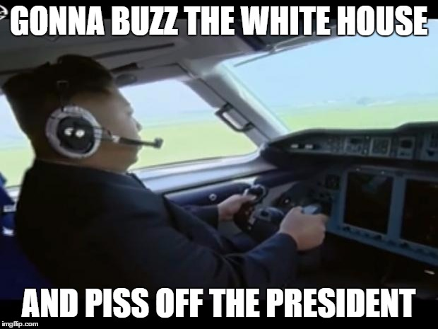 """Come to the no-fly zone Kim..."" 