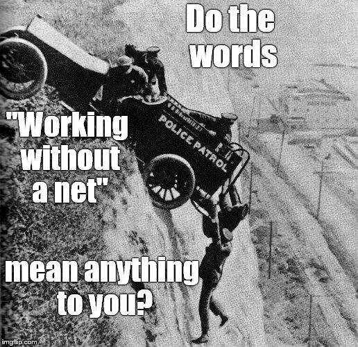"Mack Sennetts' Keystone Cops risking death 200+ feet in the air before there was such a thing as ""Scale.""  