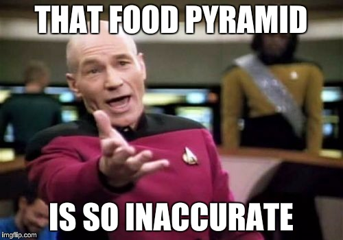 Picard Wtf Meme | THAT FOOD PYRAMID IS SO INACCURATE | image tagged in memes,picard wtf | made w/ Imgflip meme maker