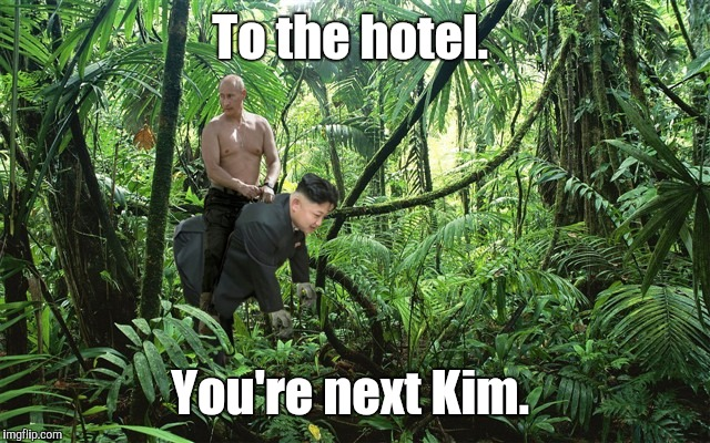 To the hotel. You're next Kim. | made w/ Imgflip meme maker