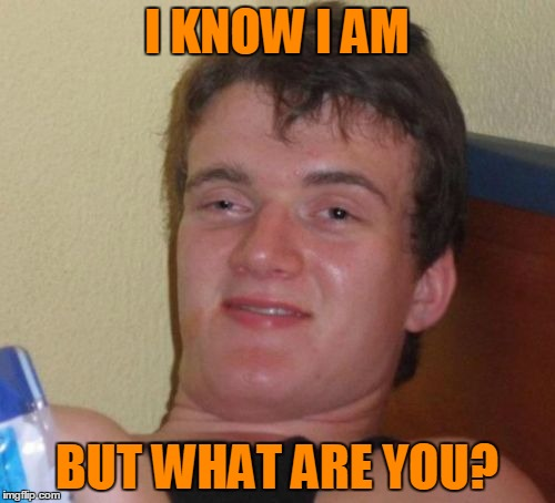 10 Guy Meme | I KNOW I AM BUT WHAT ARE YOU? | image tagged in memes,10 guy | made w/ Imgflip meme maker