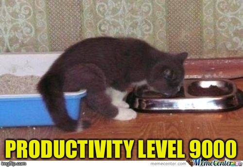 PRODUCTIVITY LEVEL 9000 | made w/ Imgflip meme maker