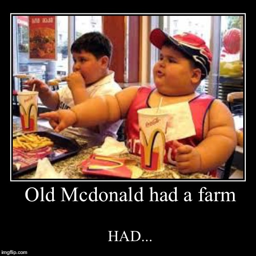 Old Mcdonald had a farm | HAD... | image tagged in funny,demotivationals | made w/ Imgflip demotivational maker