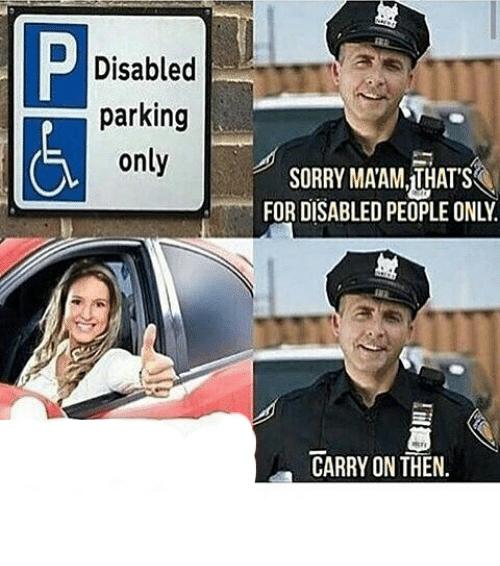 Disabled Parking Meme Generator Imgflip