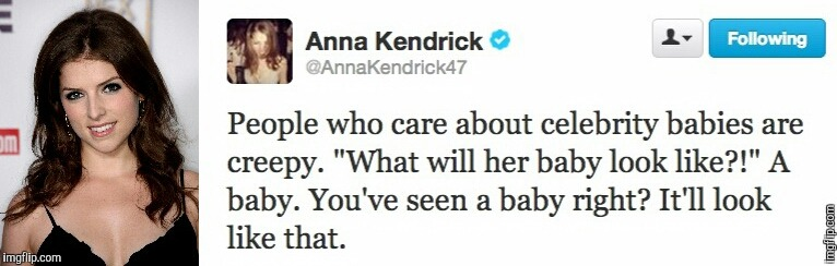 Anna Twitter | image tagged in anna kendrick | made w/ Imgflip meme maker