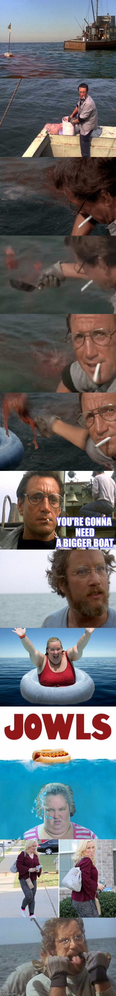 DONT GO IN THE WATER Y'ALL | YOU'RE GONNA NEED A BIGGER BOAT | image tagged in jaws,going to need a bigger boat,funny | made w/ Imgflip meme maker
