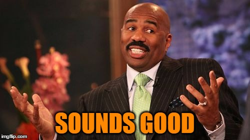 Steve Harvey Meme | SOUNDS GOOD | image tagged in memes,steve harvey | made w/ Imgflip meme maker