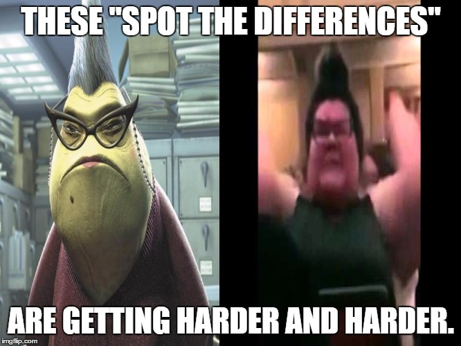 "Monsters Inc. Trigglypuff Comparison | THESE ""SPOT THE DIFFERENCES"" ARE GETTING HARDER AND HARDER. 