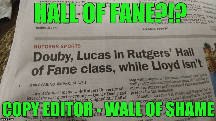 "Or ""Wall of Shane"" maybe 