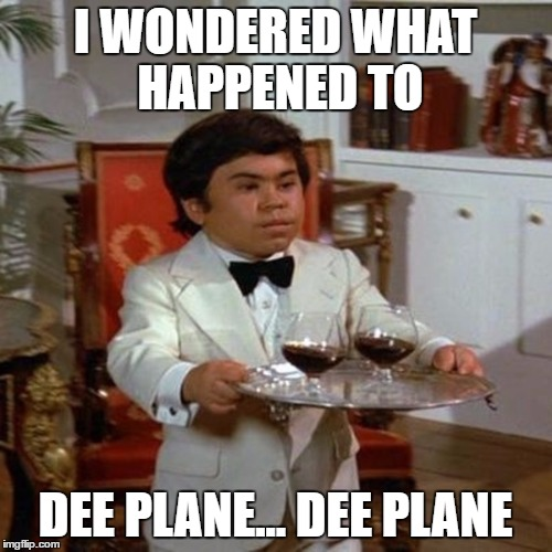 I WONDERED WHAT HAPPENED TO DEE PLANE... DEE PLANE | made w/ Imgflip meme maker