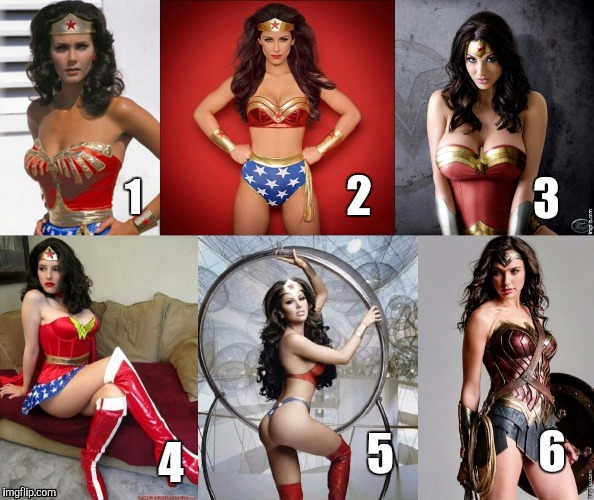 Who wears it best, Wonder Woman cosplay edition. Vote for favorite in the comments section. | 2 4 1 3 5 6 | image tagged in comic book week,wonder woman | made w/ Imgflip meme maker