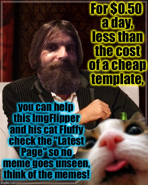 "Socrates has informed me that he has hired Sally Struthers to be our spokeswoman about going to check out the ""Latest"" Pages! 
